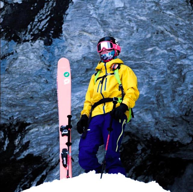 lagoped vêtement de sport montagne neige écologique veste de montagne pantalon de montagne recyclé jaune