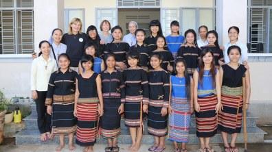 Les jeunes filles soutenues par Enfants d'Asie. Crédit photo : Enfants d'Asie.