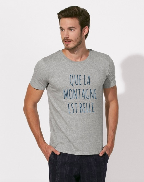 Leax mode éthique écologique made in france t-shirt à message que la montagne est belle