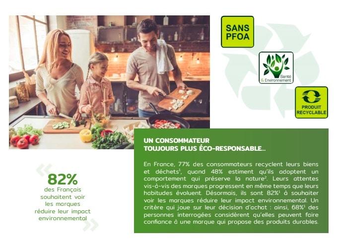 présentation gamme so recycled téfal poeles et casseroles recyclées et recyclables fabriquées en france