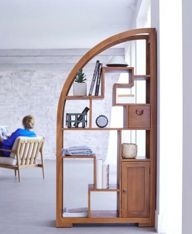 idée cadeau homme la bibliothèque en teck écologique bois durable