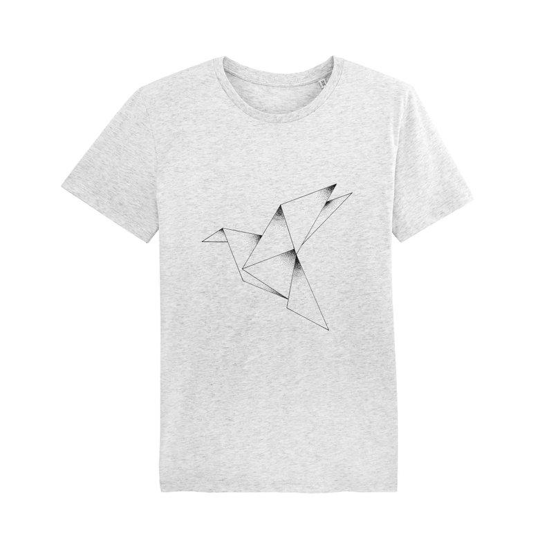 t-shirt coton bio homme et femme unisexe illustration colibri. Mode éthique et écologqiue par Solis et Lunae