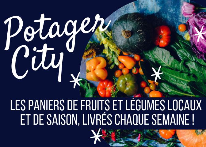 Potager City, les paniers de fruits et légumes locaux, de saison et issus de l'agriculture raisonnée ou biologique, livrés chaque semaine ! #mangersain #mangerlocal #zérodéchet #recettes