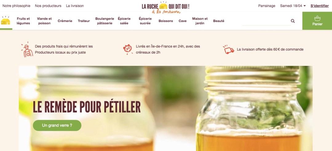 La ruche qui dit oui fruits et légumes éthiques et artisanat en ligne livré à la maison