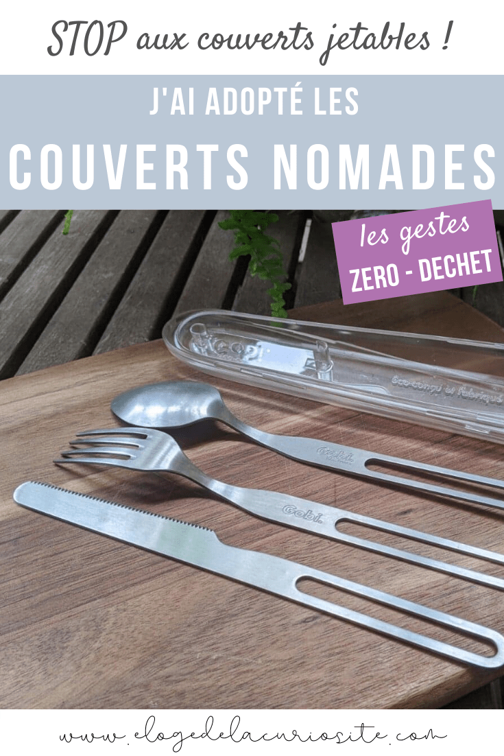 couverts réutilisables nomades inox made in france zéro déchet