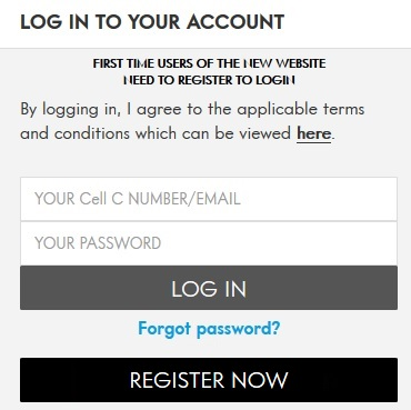 Cell C Login