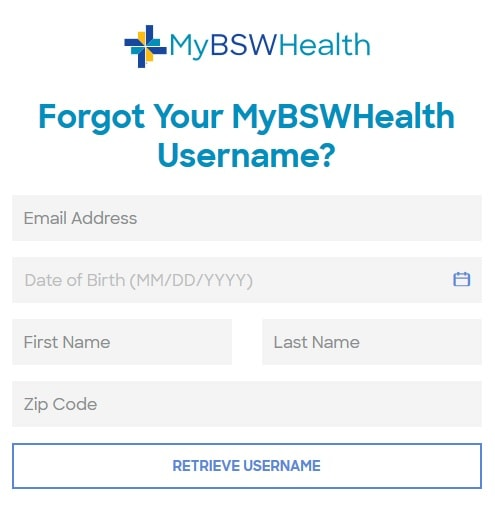 Reset Username MyBSWhealth