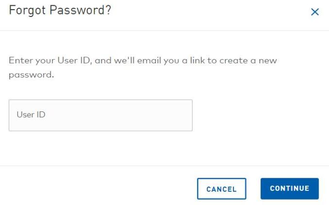 Resetting GM Financial MyAccount password