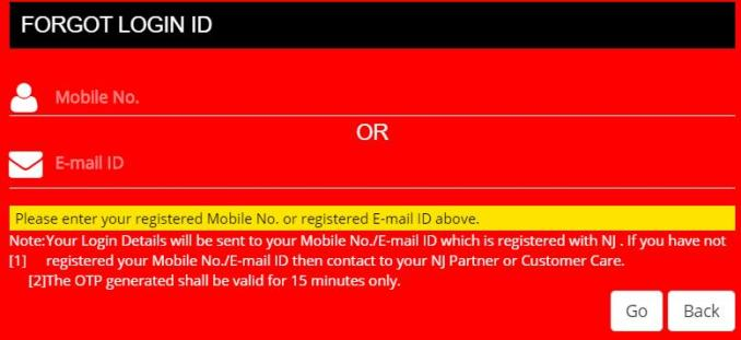 recover NJ Client Desk login id