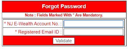 reset NJ E-Wealth account password