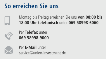 Union Investment KundenService