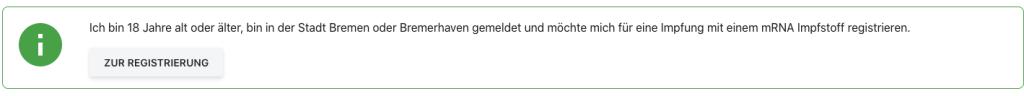 Impftermin für alle in Bremen