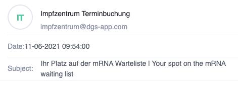 Bremen Impftermin email