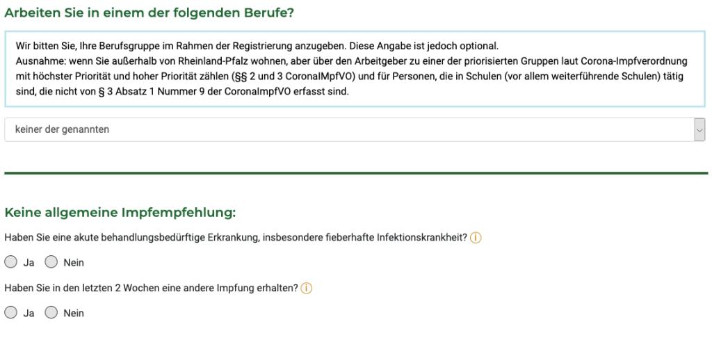 Rheinland-Pfalz Prioritätsgruppe
