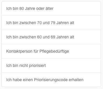 Saarland Impfprioritätsgruppe