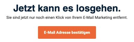 CleverReach email bestätigen