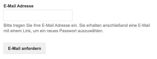Kicktipp Passwort vergessen