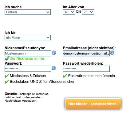 Fischkopf Login Registrierung
