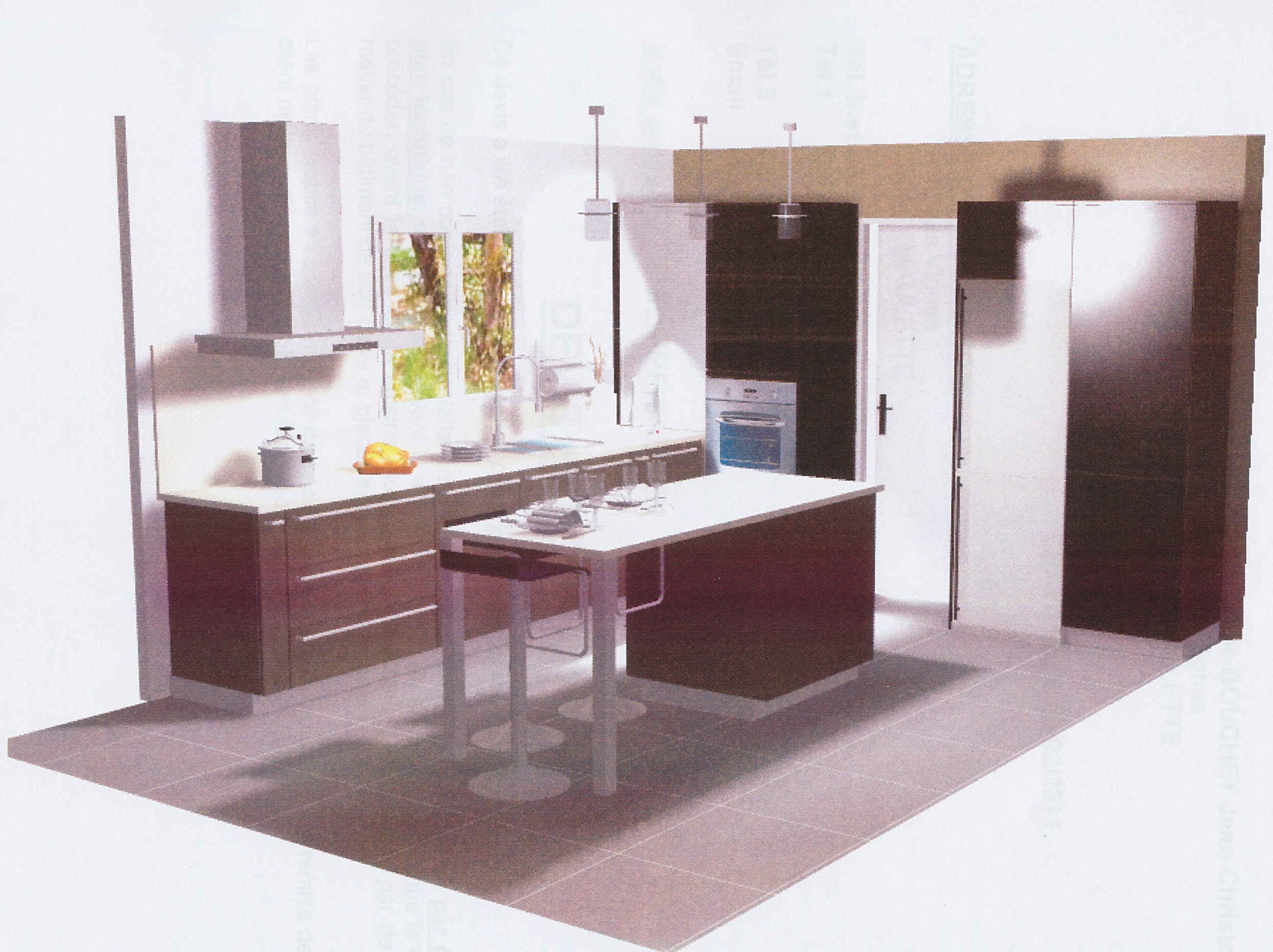 plan amenagement cuisine 10m2