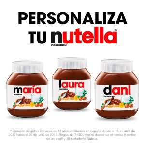 Pon tu nombre en mi marca (marketing one to one)