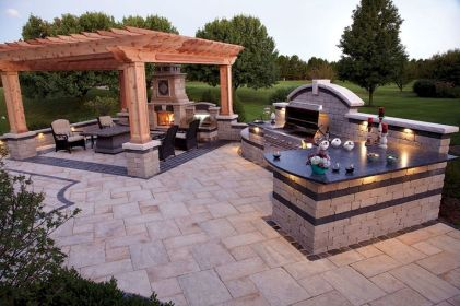 Inspiring Summer Outdoor Kitchen Ideas (13)