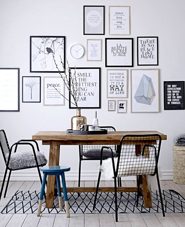 dining room art gallery wall decor ideas 4