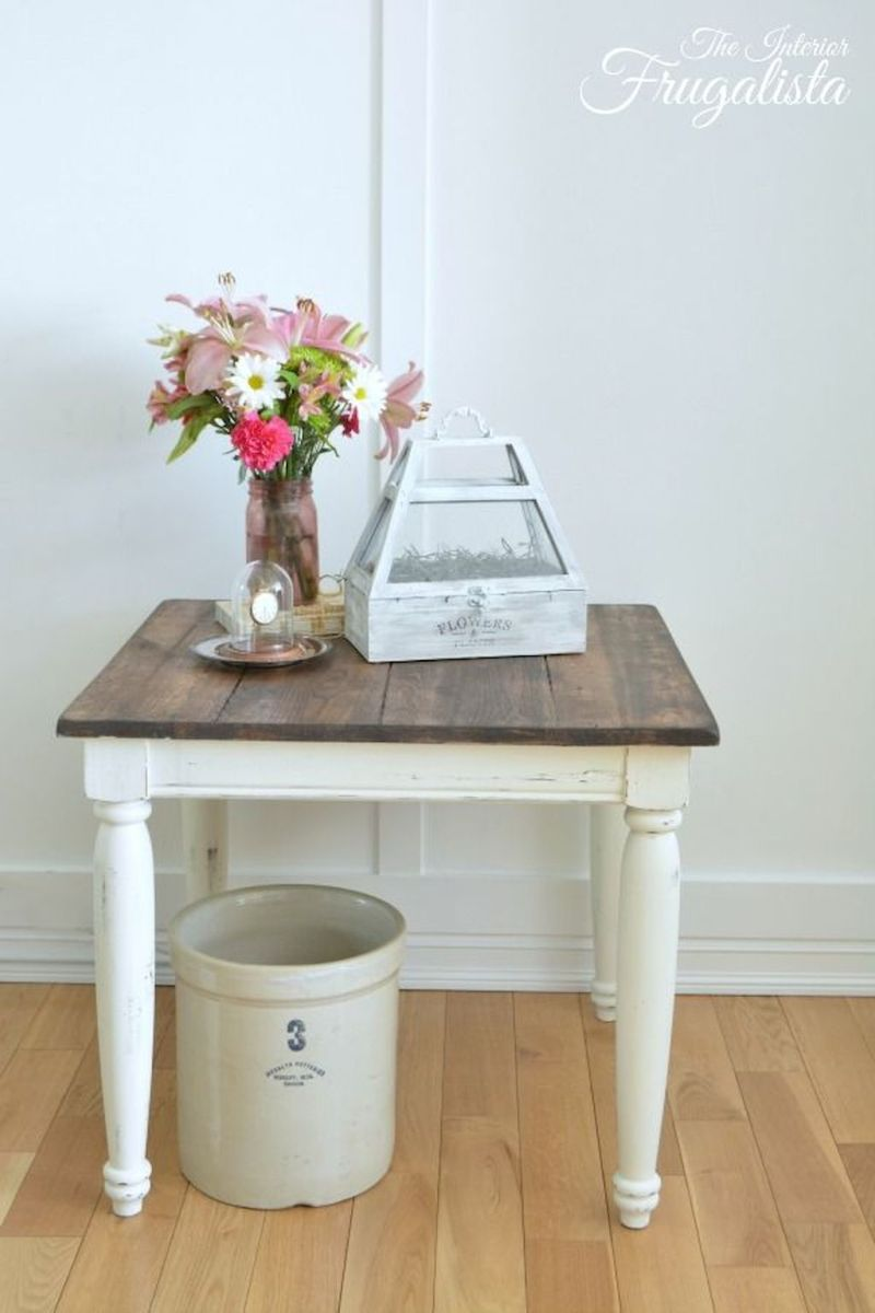 Creative Farmhouse Style Side Table Design Made From Scrap And Reclaimed Materials (54)