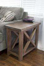 Creative Farmhouse Style Side Table Design Made From Scrap And Reclaimed Materials (62)