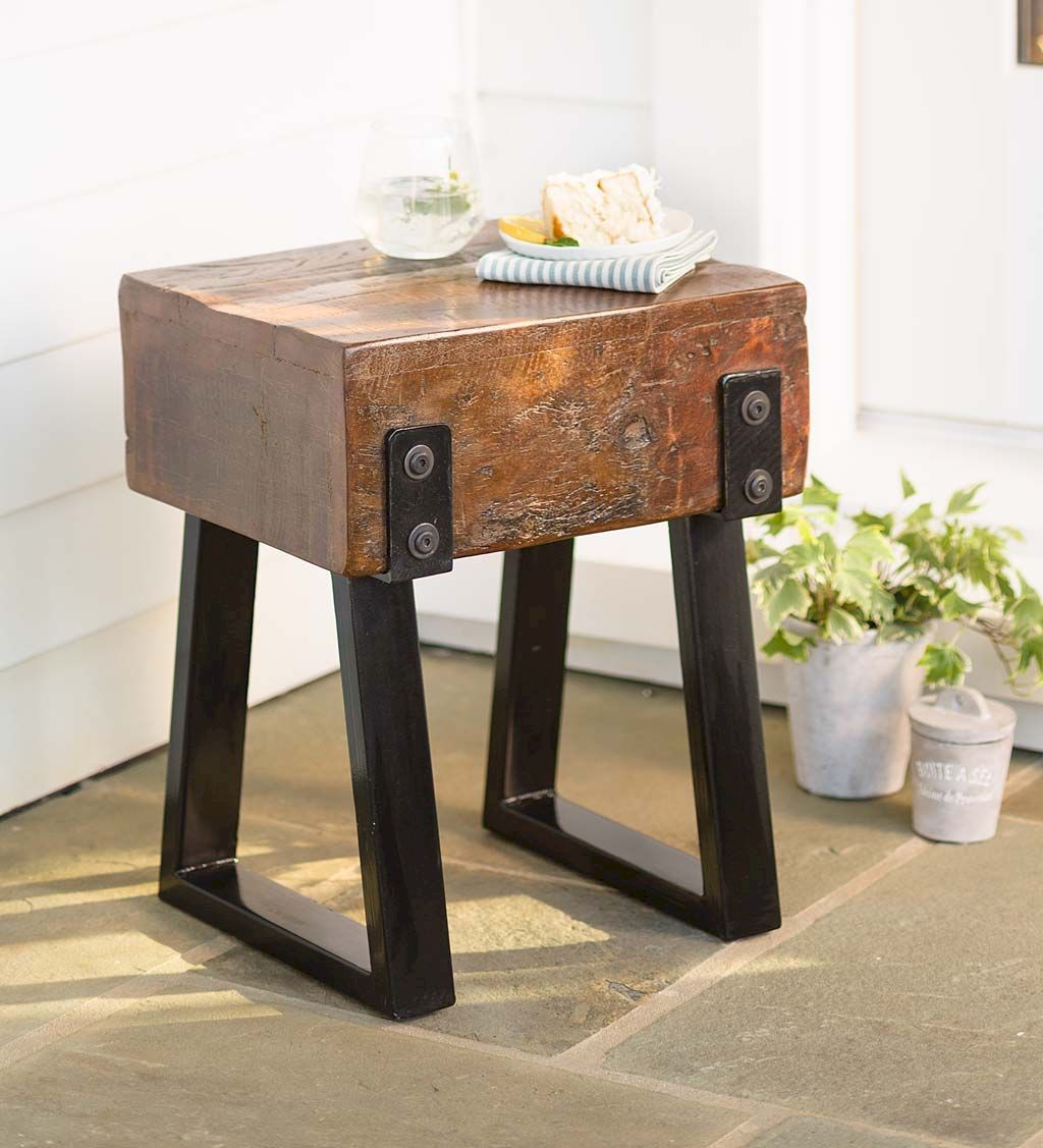 Creative Farmhouse Style Side Table Design Made From Scrap And Reclaimed Materials (63)