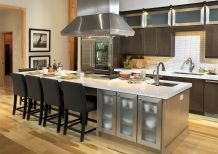 Dual purpose kitchen island that will really safe your space and extra budget as well (17)
