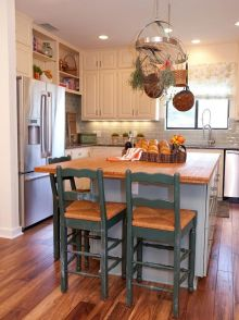 Dual purpose kitchen island that will really safe your space and extra budget as well (24)