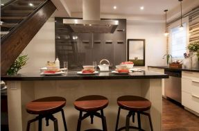 Dual purpose kitchen island that will really safe your space and extra budget as well (3)