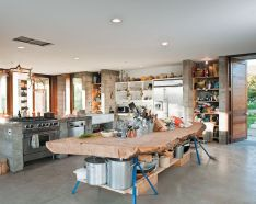 Dual purpose kitchen island that will really safe your space and extra budget as well (38)