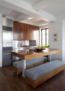 Dual purpose kitchen island that will really safe your space and extra budget as well (40)