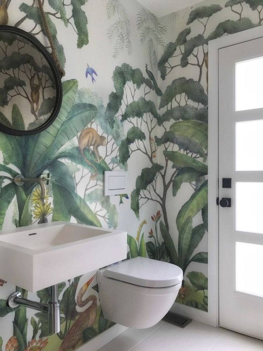 Easy Bathroom Makeover Inspirations with Cheap Decoration and Accessories Part 32