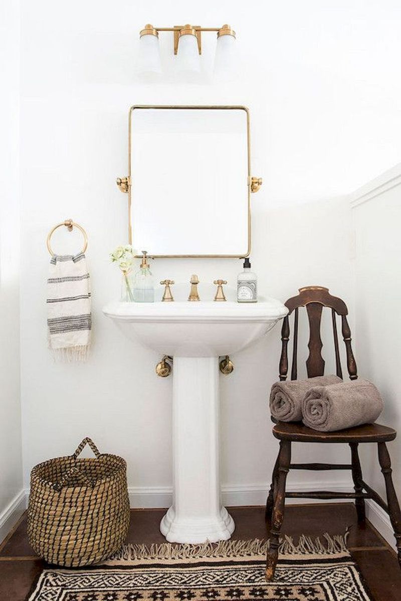 Easy Bathroom Makeover Inspirations with Cheap Decoration and Accessories Part 36