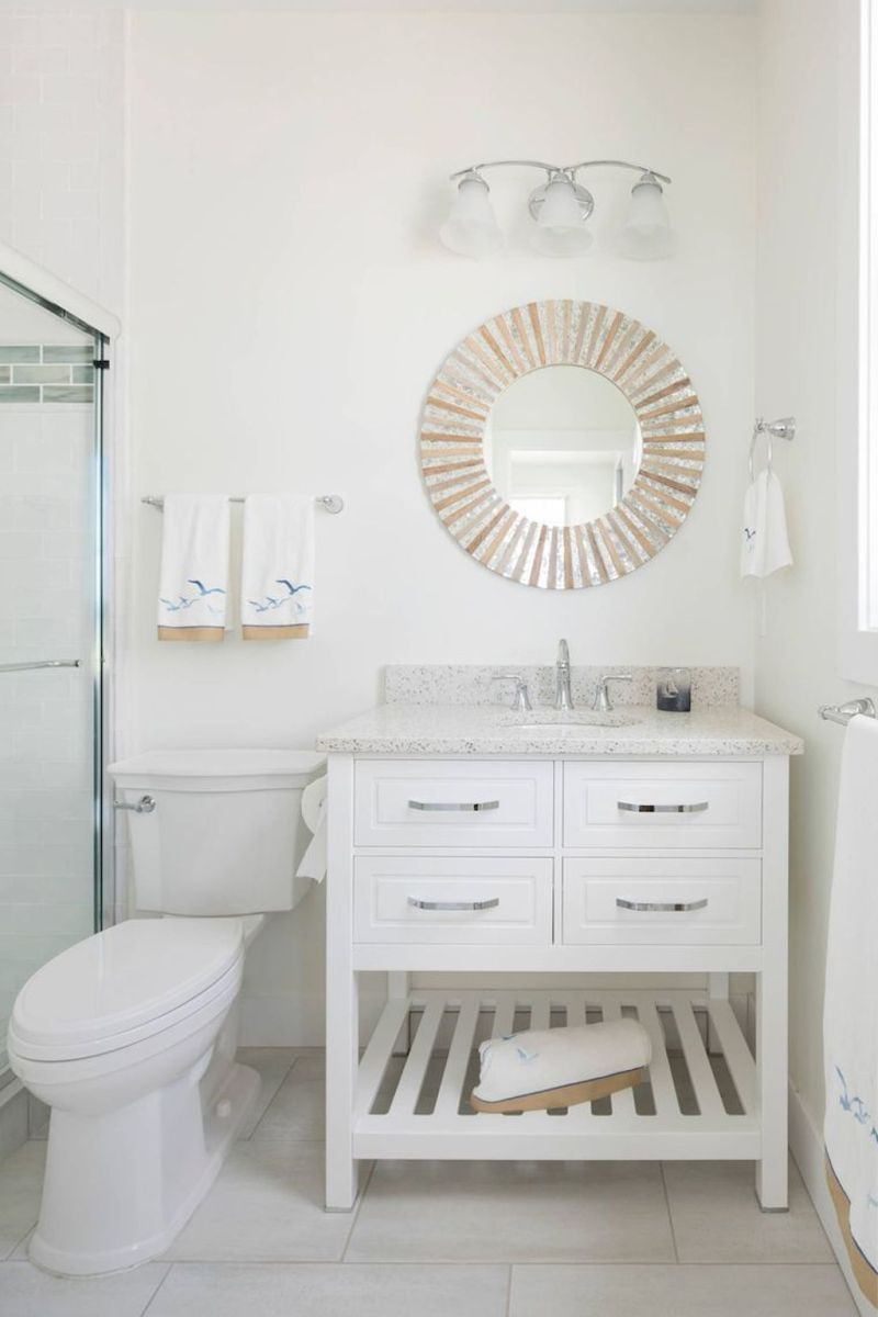 Easy Bathroom Makeover Inspirations with Cheap Decoration and Accessories Part 45