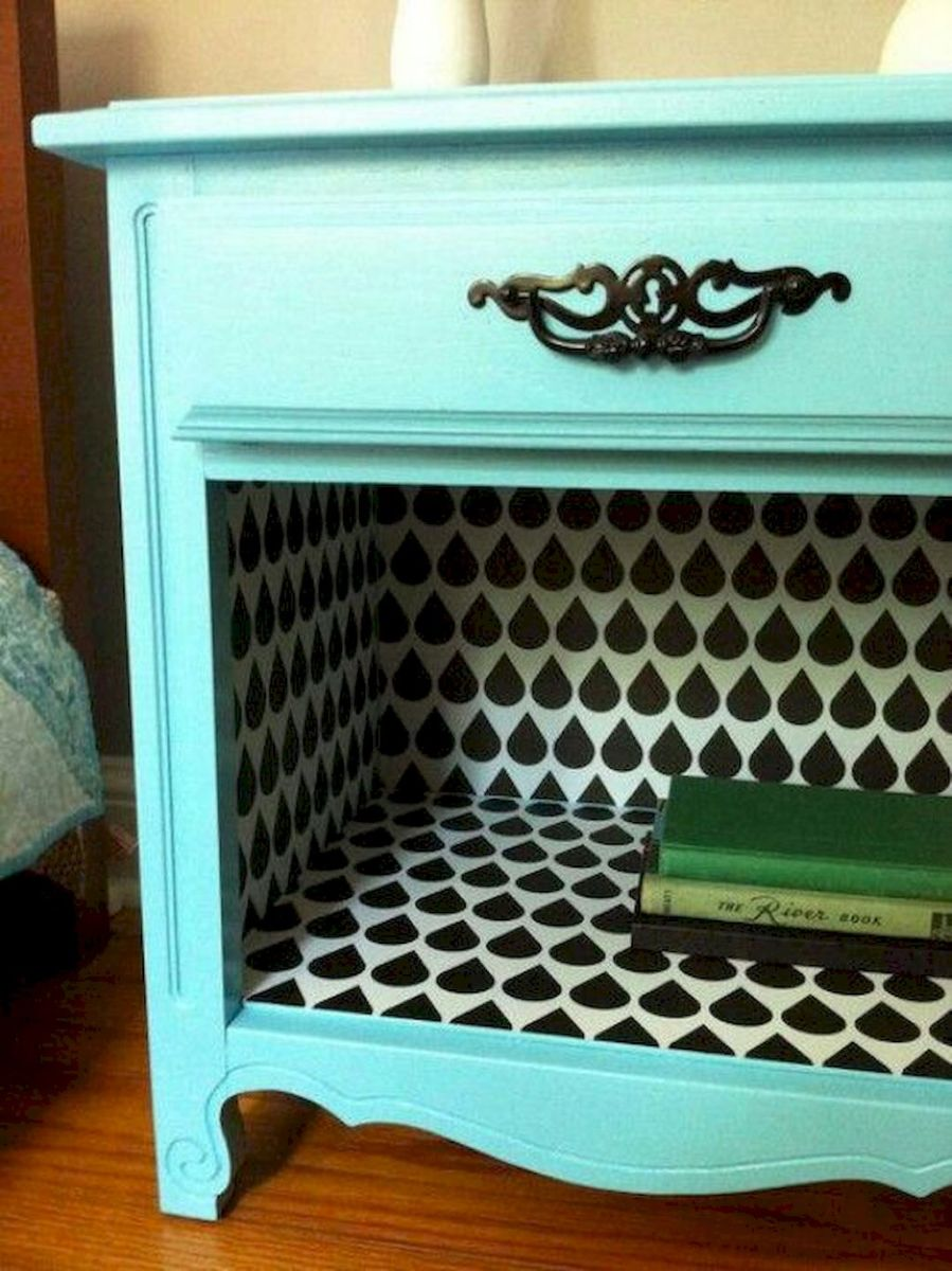 Easy tricks for Nightstand makeover ideas that will makeup the bedroom design Part 15
