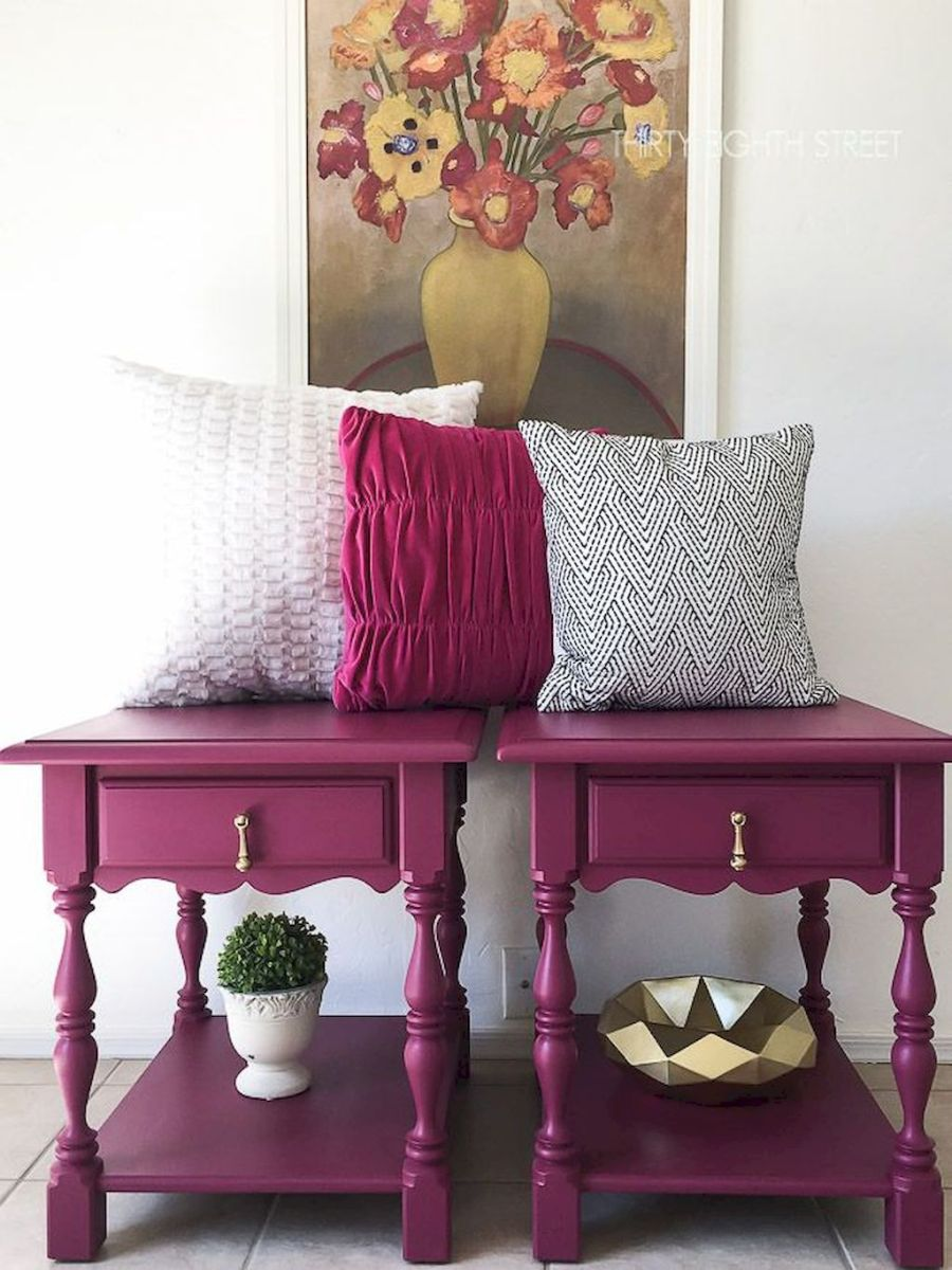 Easy tricks for Nightstand makeover ideas that will makeup the bedroom design Part 16