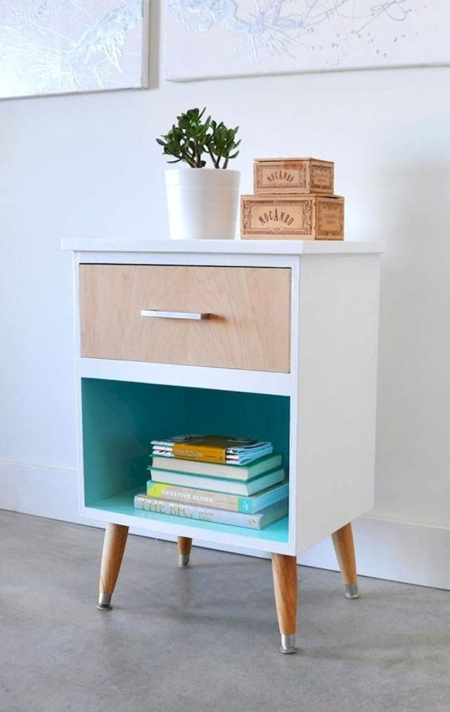 Easy tricks for Nightstand makeover ideas that will makeup the bedroom design Part 3