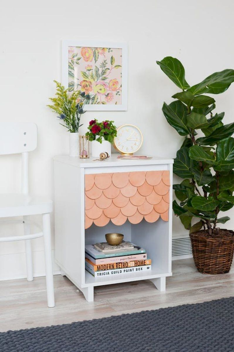 Easy tricks for Nightstand makeover ideas that will makeup the bedroom design Part 32