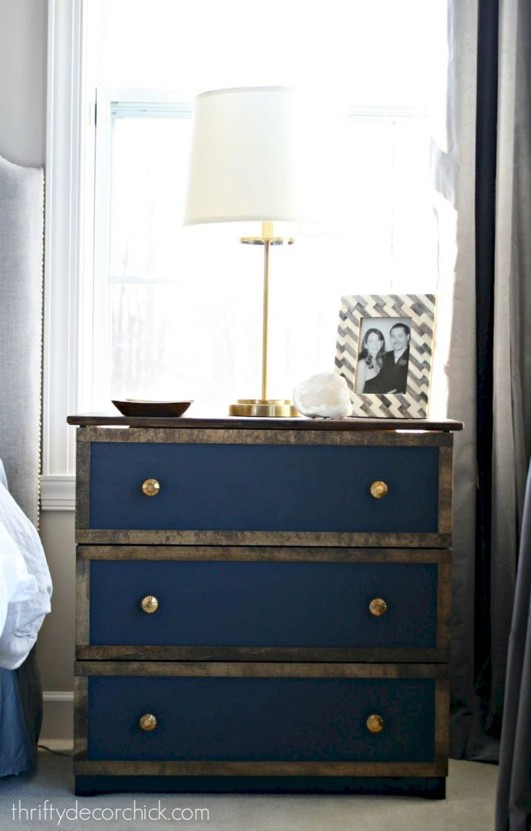 Easy tricks for Nightstand makeover ideas that will makeup the bedroom design Part 63