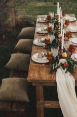 Fall wedding decoration idea with inspiring autumn decoration and fall flowers design Part 52