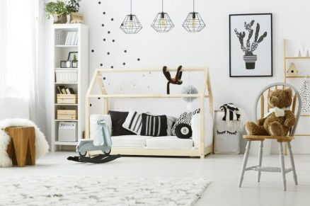 Modern Baby Nursery Rooms Ideas with Simple and Colorful Concepts with Pattern and Unique Baby Crib Design Part 2