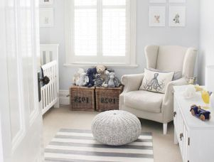 Modern Baby Nursery Rooms Ideas with Simple and Colorful Concepts with Pattern and Unique Baby Crib Design Part 26