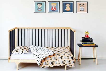 Modern Baby Nursery Rooms Ideas with Simple and Colorful Concepts with Pattern and Unique Baby Crib Design Part 30
