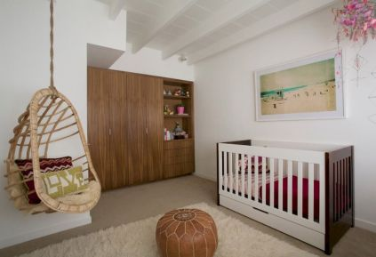 Modern Baby Nursery Rooms Ideas with Simple and Colorful Concepts with Pattern and Unique Baby Crib Design Part 33