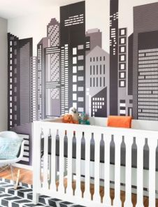Modern Baby Nursery Rooms Ideas with Simple and Colorful Concepts with Pattern and Unique Baby Crib Design Part 37