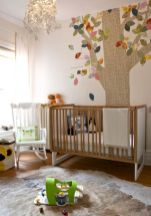 Modern Baby Nursery Rooms Ideas with Simple and Colorful Concepts with Pattern and Unique Baby Crib Design Part 4