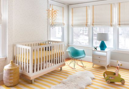Modern Baby Nursery Rooms Ideas with Simple and Colorful Concepts with Pattern and Unique Baby Crib Design Part 43